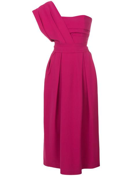 PREEN BY THORNTON BREGAZZI dress women spandex purple pink