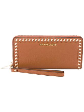 zip women purse leather nude bag