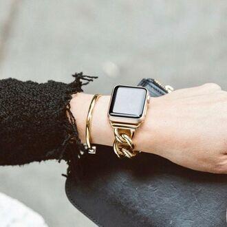 jewels watch gold watch apple apple watch bracelets gold bracelet jewelry accessories accessory