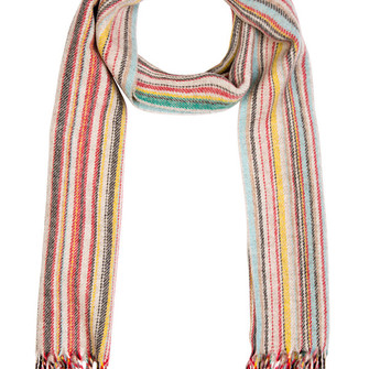 red scarf menswear stripes scarf red