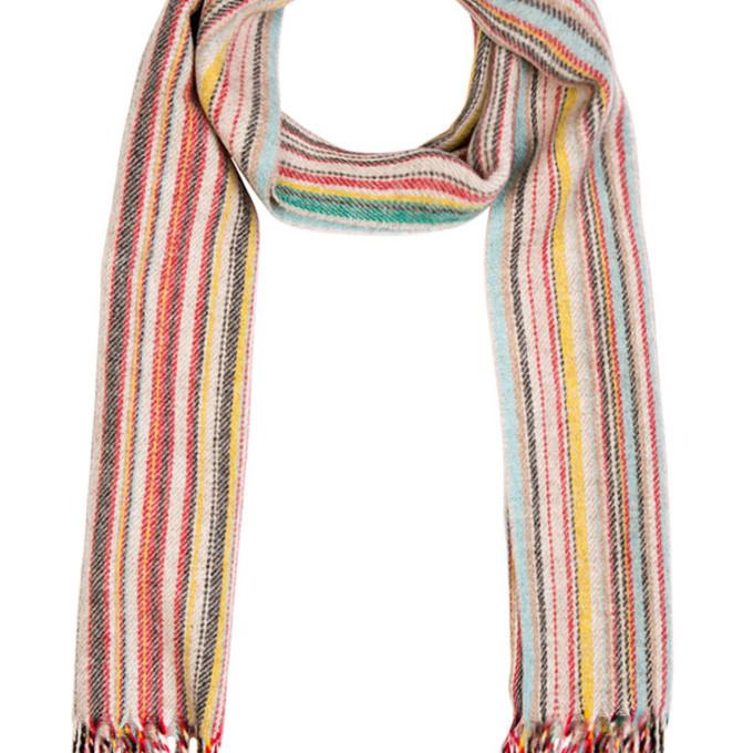 red scarf menswear stripes scarf red