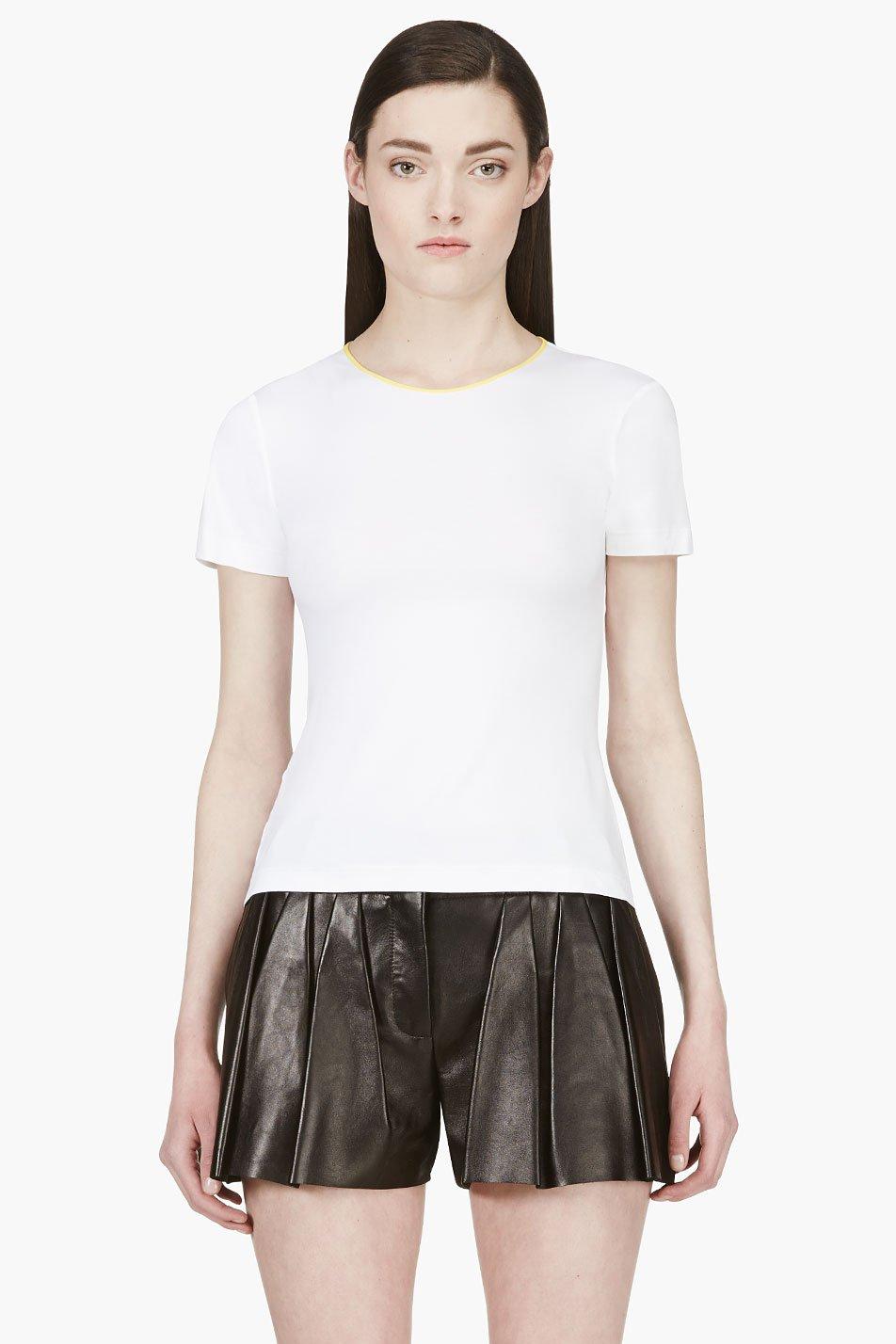 roksanda ilincic white contrast trim t_shirt