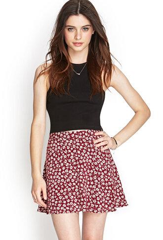skirt floral skirt mini skirt floral