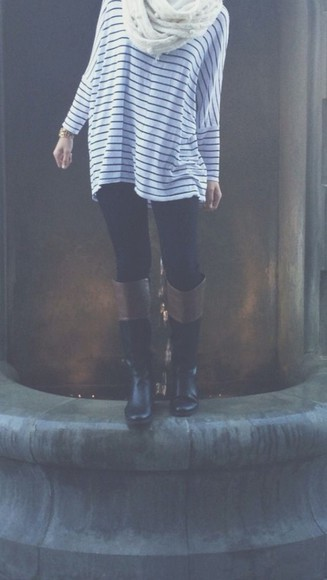top shoes knit stripes fall outfits winter outfits leggings long sleeves tory burch
