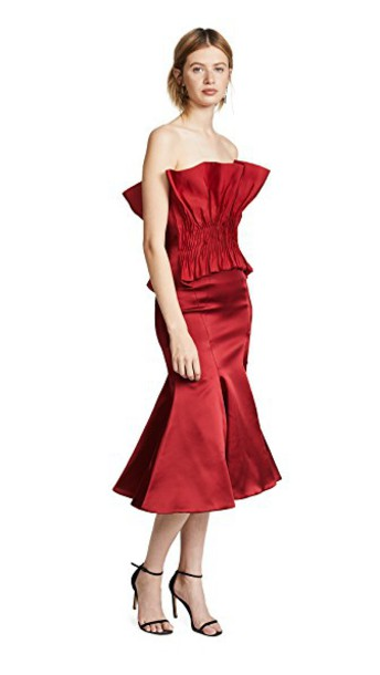 Jonathan Simkhai dress silk red