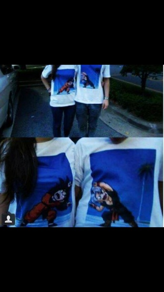 shirt t-shirt matching shirts matching shirts for couples white shirt dragon ball z
