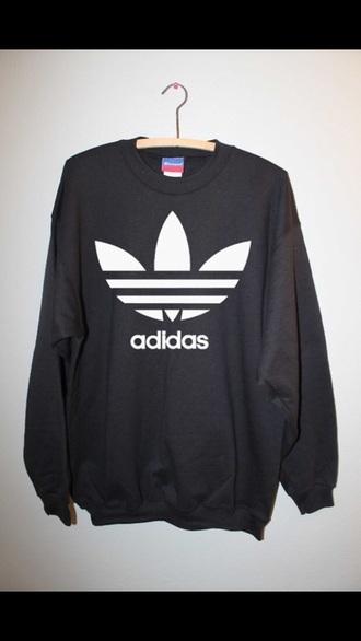 sweater adidas adidas sweather black adidas black forever black grunge pale grunge adidas sweater