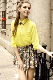 coat,blouse,persunmall blouse,persunmall,clothes,yellow