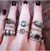 jewels,ring,stone,boho jewelry,grunge wishlist,grunge accessory,pretty,girl,girly,grunge,hipster,lace,leather,jacket,pastel,white,dress,shoes,heels,black,nails,nail varnish,girly grunge,hipster bikini,lace dress,topshop,pastel goth,nail polish,make-up,jewelry,cool,fashion,tumblr,little things,beautiful