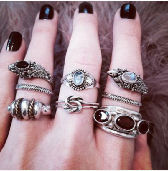 jewels ring nails cool stone ring girl girly grunge hipster lace leather jacket pastel white dress shoes high heels black nail varnish girly grunge hipster bikini lace dress topshop pastel goth nail polish make-up