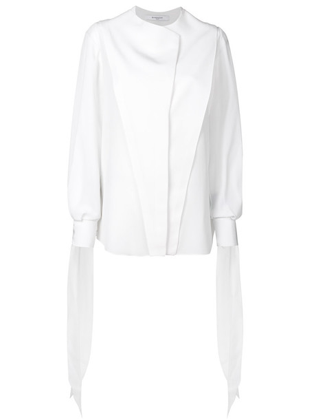 Givenchy shirt women white silk top