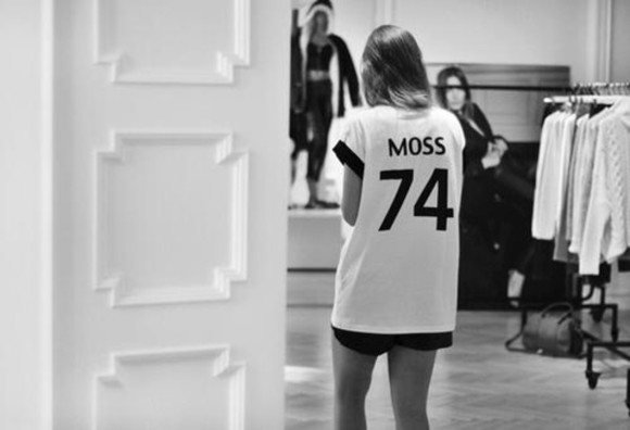 kate moss shirt moss kate topmodel top model tshirt haute couture tshirt with number black and white tshirt with text