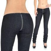 jeans,zip around,front to back zipper