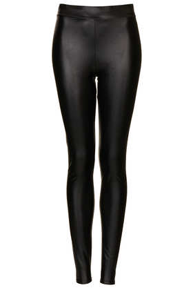 Textured Leather Look Leggings - Topshop
