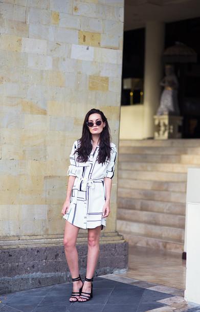 anouska proetta brandon blogger black and white dress shirt dress