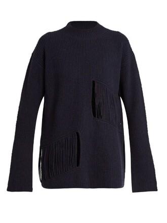 sweater oversized sweater oversized navy