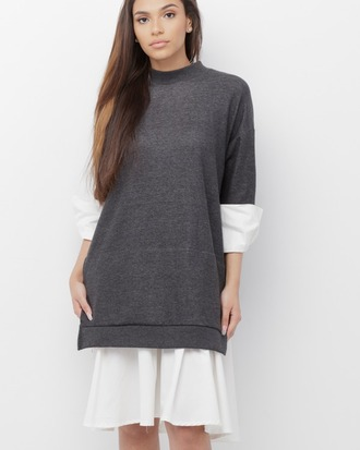 dress pullover pullover dress oversized oversized dress grey grey dress grey and white grey and white dress