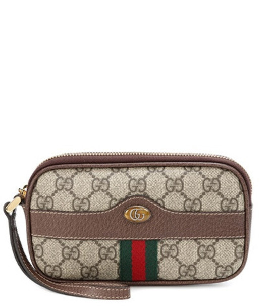 Gucci Ophidia GG Supreme pouch in brown