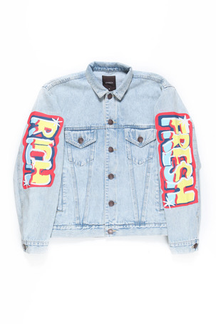 WILD STYLE DENIM JACKET / BLUE / ACID WASH - JOYRICH Store