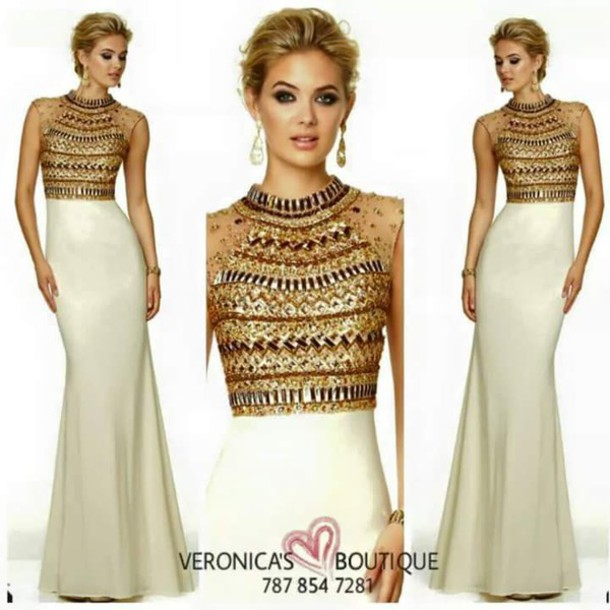 Egyptian Inspired Dress Egyptian Style Prom Dr...