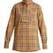 House-checked high-neck cotton shirt