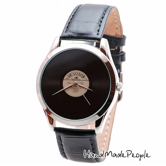 vinyl lp wristwatch handmade watch wrist watch watches mens retro vinyl lp wristwatch handmade watch wrist watch watches mens watch women watches gift idea anniversary gift shipping