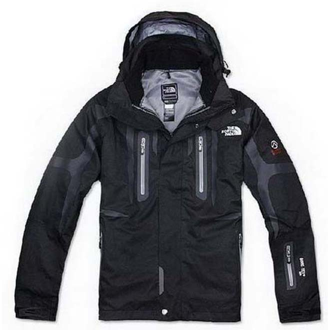 North Face Triclimate 3 In 1 Jacket Black Grey Lining-Mens