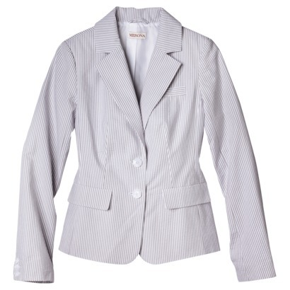 Merona® Women's Seersucker Jacket - Grey/White : Target