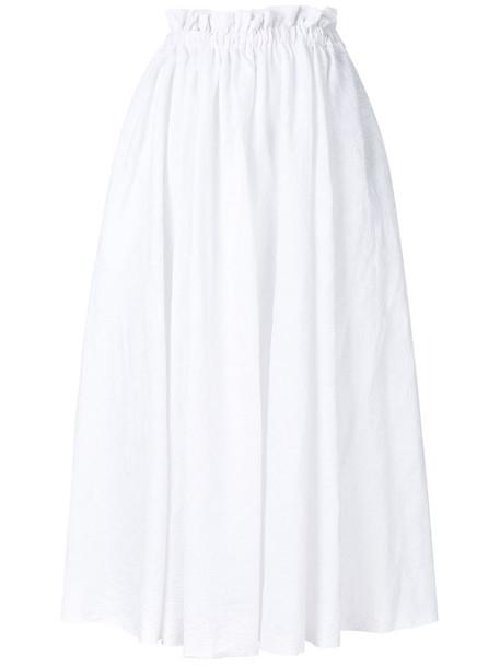 skirt high women white cotton