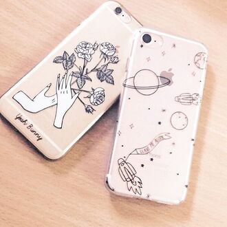 phone cover yeah bunny iphone space transparent stars science iphone cover iphone case