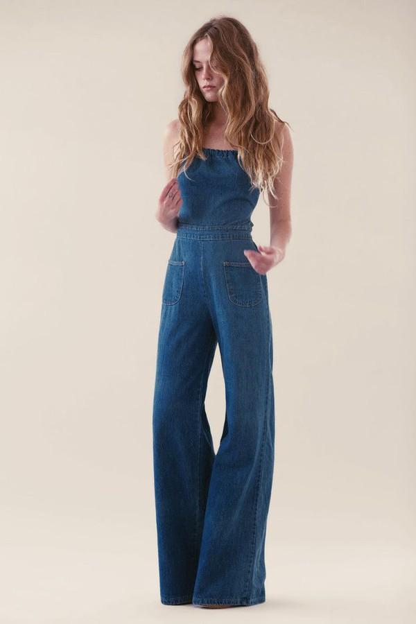 jumpsuit denim denim overalls denim jumpsuit flare jeans flare denim flare backless backless jumpsuit overalls fashion