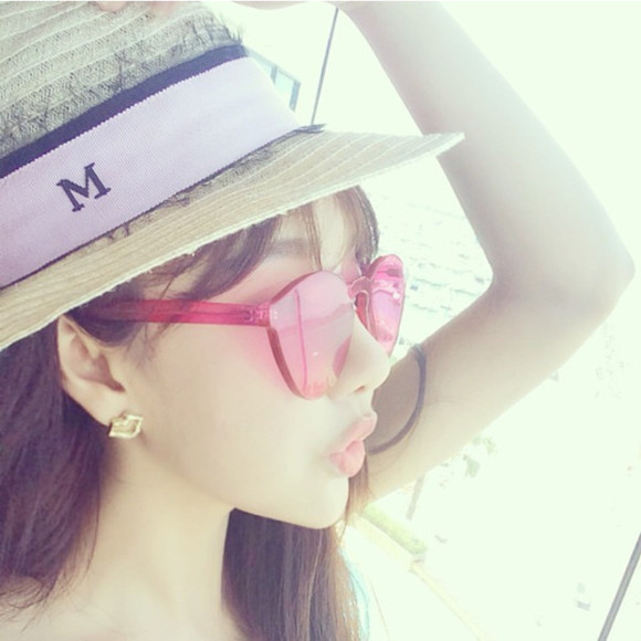 sunglasses pink sunglasses cute jewels