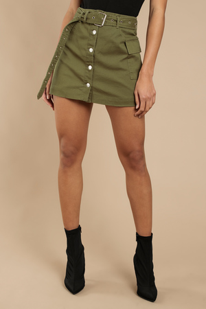 On Duty Cargo Mini Skirt