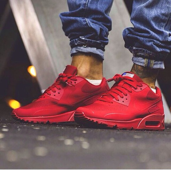 mens shoes nike air nike air max 90 hyperfuse nike red red shoes