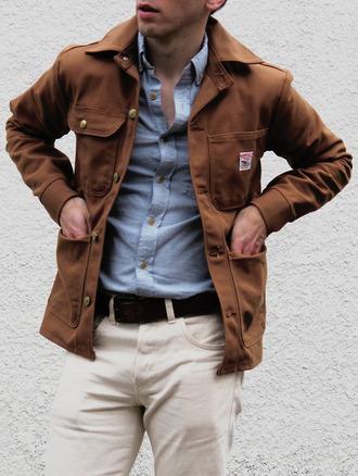 jacket duck canvas brown mens jacket