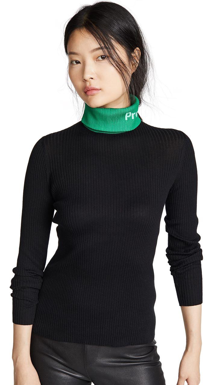 Proenza Schouler White Label Long Sleeve Knit Turtleneck
