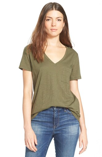 t-shirt olive green