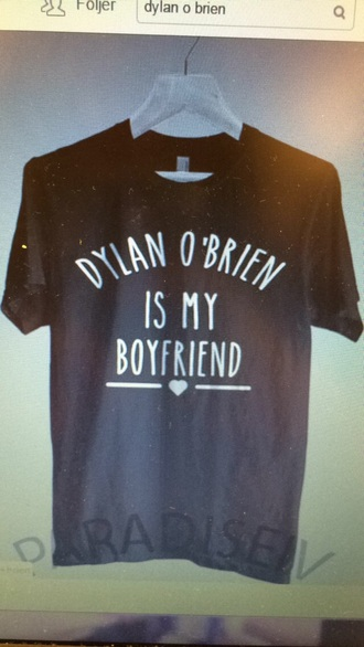 shirt dylan o'brien black t-shirt