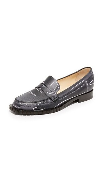 loafers black grey shoes