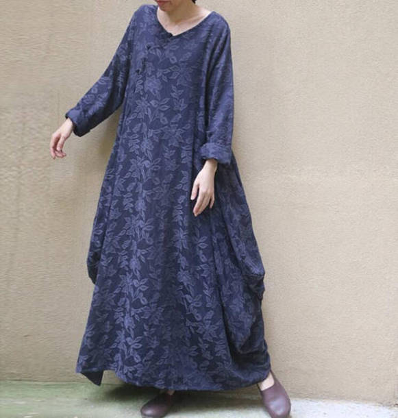 dress long loose dress