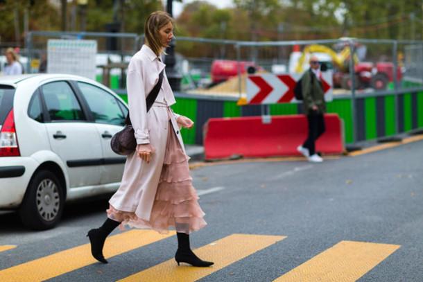 0602dfe674 coat fashion week street style fashion week 2016 fashion week paris fashion  week 2016 pink dress