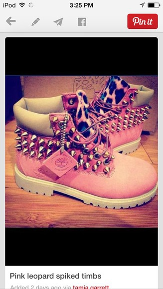 shoes spikes boots pink