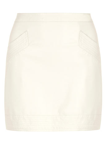 Winter White PU Mini skirt - View All Partywear  - Party  - Dorothy Perkins