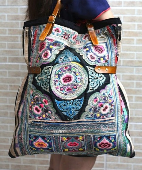 bag boho embroidery boho chic hippy bag hippie hippie chic embroidered boho embroidered bag brown colourful colorful floral