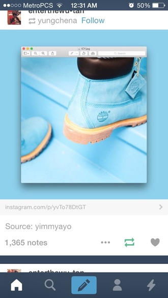 shoes timberlands baby blue sky blue