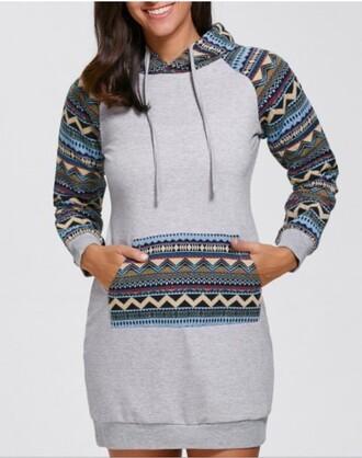dress casual fashion style girly feminine trendy pattern long sleeves fall outfits zaful