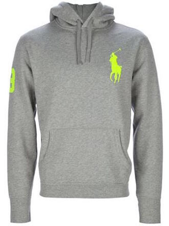 sweater ralph lauren polo ralph laurent fluo grey sweater