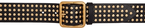 studded belt studded belt gold black black and gold
