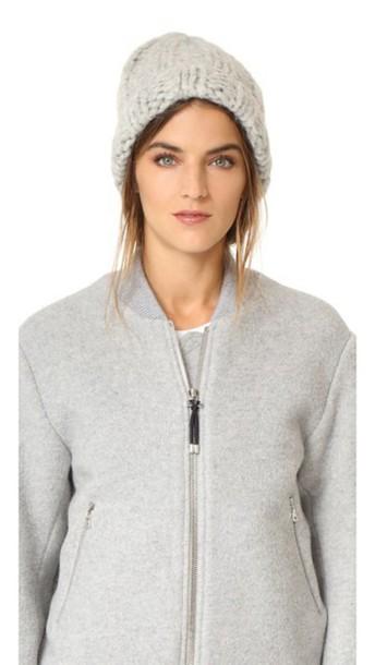 b6e60fa4362 Acne Studios Jewel Alpaca Hat - Silver Grey - Wheretoget