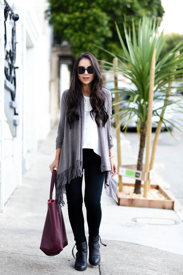 the fancy pants report blogger cardigan bag sunglasses